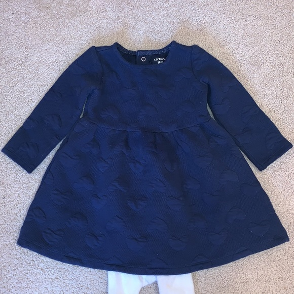 Carter's Heart Dress and Tights